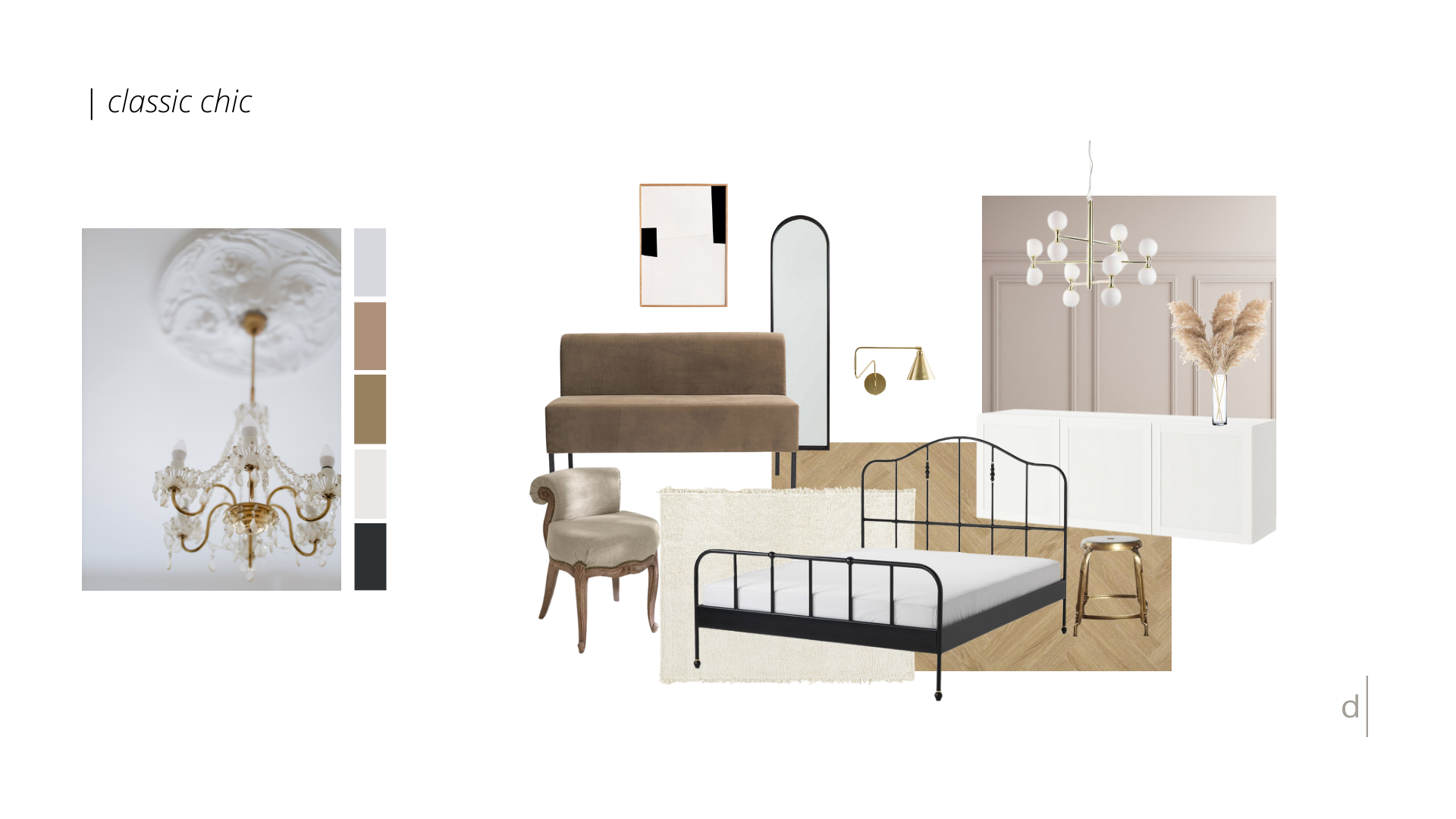 Klassische Elemente & ein Hauch Glamour aus vergangenen Zeiten: das ist die d.yond CLASSIC CHIC Stilwelt