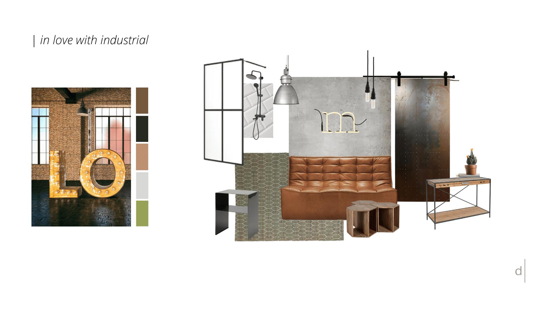 Stahl, Ziegelmauern, Beton und Do-it-yourself-Objekte schaffen einen maskulinen Look.  Das ist die d.yond IN LOVE WITH INDUSTRIAL Stilwelt